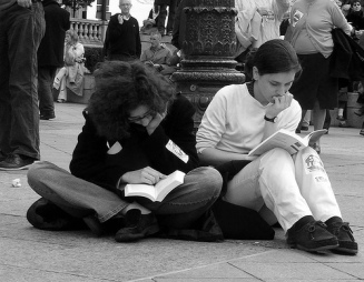 reading at the demo2